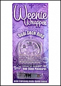 Weenie Wrapper- Dual Cock Ring - Clear (74378.11)